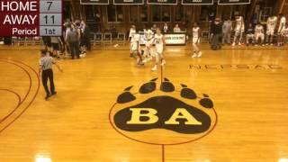 Bridgton Academy Basketball v. Brewster Academy