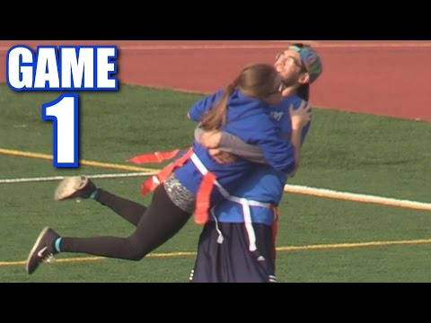 CIARA'S AMAZING FIRST TOUCHDOWN! | Offseason Football Series | Game 1