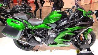 9. 2018 Kawasaki Ninja H2 SX SE - Walkaround - 2017 EICMA Milan Motorcycle Exhibition