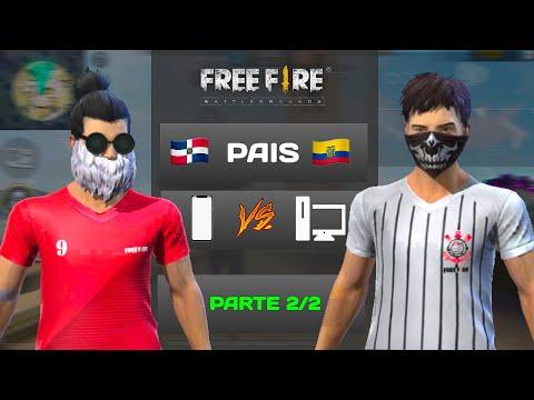 PVP CONTRA UN JUGADOR DE PC FREE FIRE