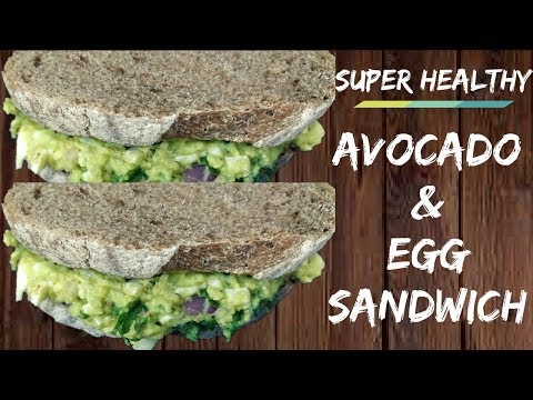 Easy and Healthy Avocado and Egg Sandwich  Lose weight fast  Healthy lunch and breakfast ideas