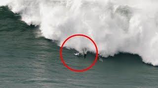 Video Surfer Experiences Terrifying Wipeout in Nazare, Portugal MP3, 3GP, MP4, WEBM, AVI, FLV Februari 2019