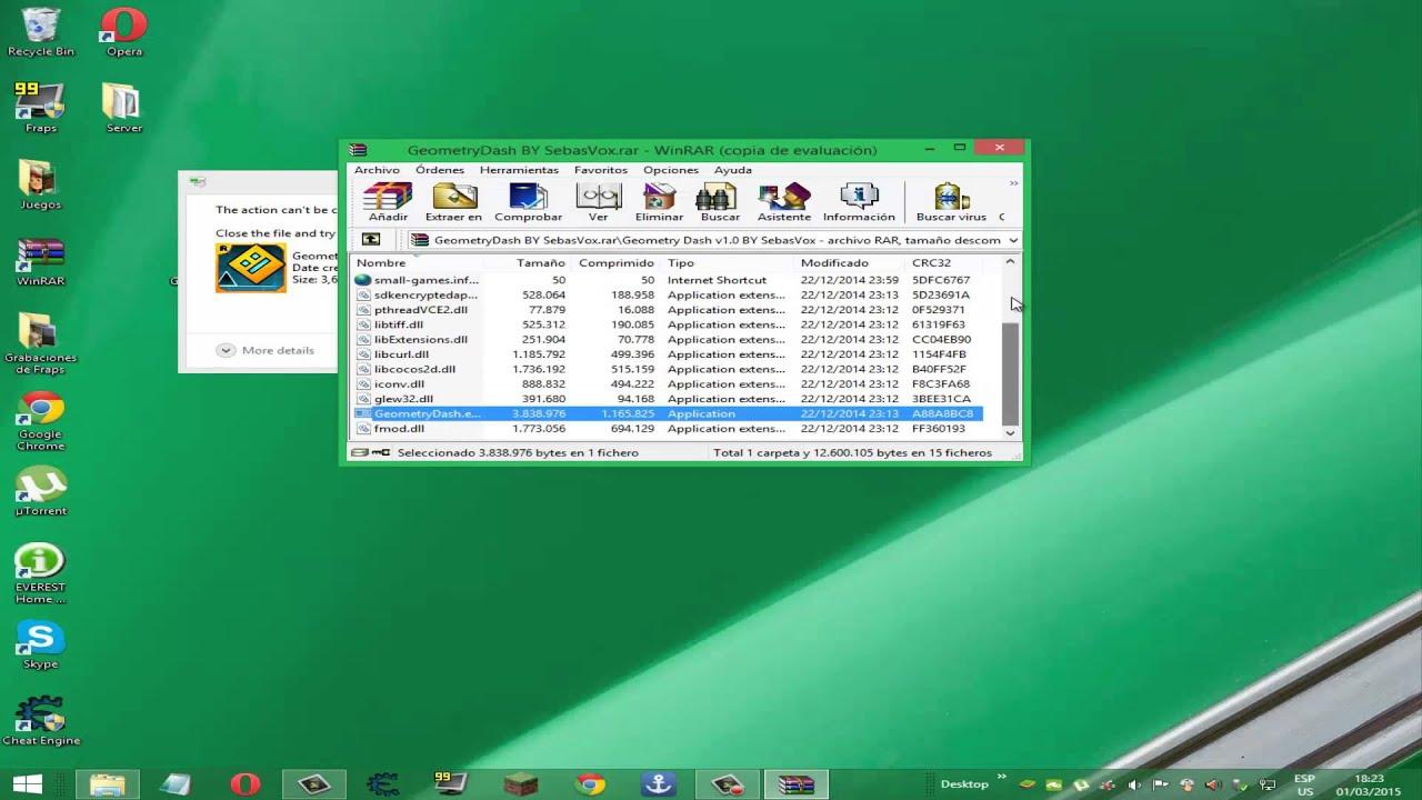 Como descargar Geometry Dash full para pc-2015-Sin bluestacks-Windows 7,8,Vista,XP