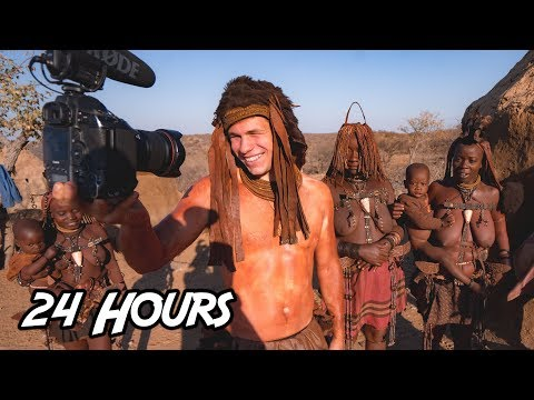 Living 24 hours With a Desert African Tribe - Himba Village, Namibia