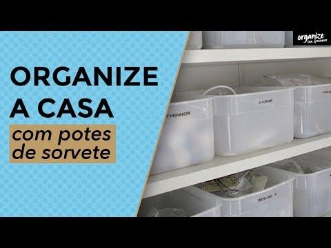 Como reutilizar potes de sorvete para organizar a casa