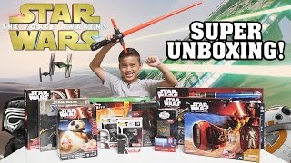Video STAR WARS Super TOY Unboxing!!! The Force Awakens Surprise Box! MP3, 3GP, MP4, WEBM, AVI, FLV Juli 2018