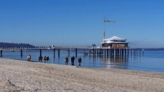 Timmendorfer Strand Germany  city photos gallery : Timmendorfer Strand, Germany: Baltic Sea, beach, sea bridge - (Full HD 1080p)