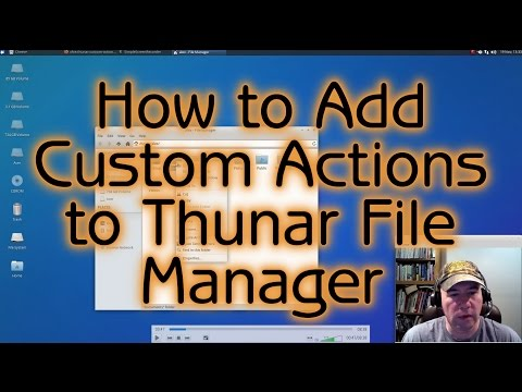Add Custom Actions To Thunar File Manager