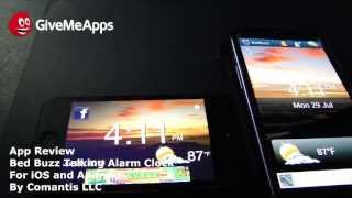 BedBuzz Talking Alarm Clock YouTube video