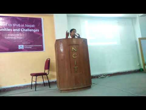 (General Secretary of Internet Society Nepal at IPV6 Day Program - Duration: 2 minutes, 30 seconds.)