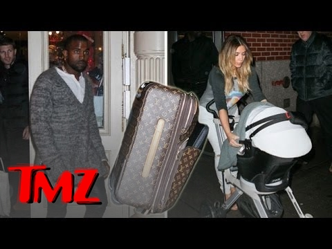 West - Kanye West has asked for a Louis Vuitton boycott, but then was photographed leaving with Louis luggage! What gives?!