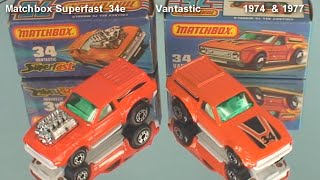 Matchbox Superfast  Vantastic   1974 & 1977 variations