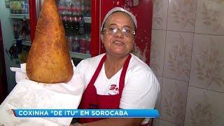 Coxinha gigante faz sucesso em pastelaria de Sorocaba