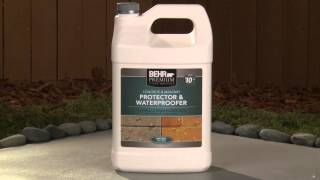 How-To: Apply Behr Premium Concrete & Masonry Protector & Waterproofer