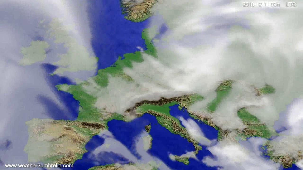 Cloud forecast Europe 2018-12-08