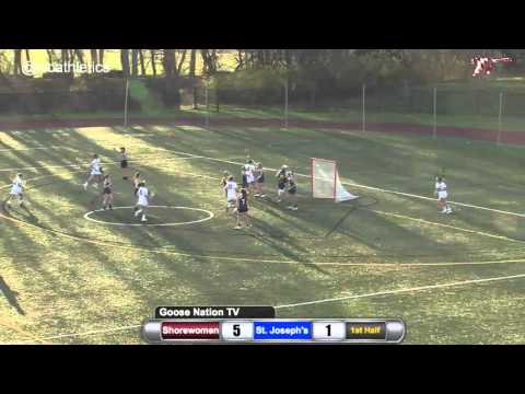 Shorewomen Lacrosse: Grovom's 1st Goal 15 Seconds After Draw