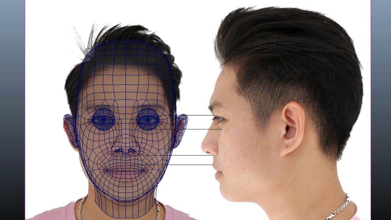 creating 3d human face model maya tutorial