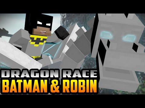 Minecraft: How to Train Your Dragon – Batman and Robin Race!