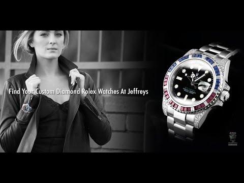 Rolex GMT-Master II S/S Custom Diamond,Sapphire & Ruby Bezel & Case - WM1904+