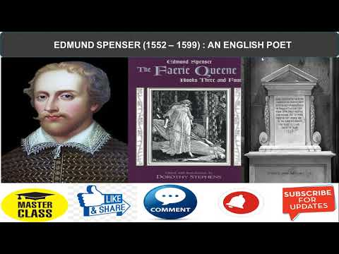 EDMUND SPENSER : ONE OF THE GREATEST POETS OF ENGLISH LITERATURE