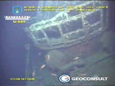 Grabación por ROV del submarino aleman U864
