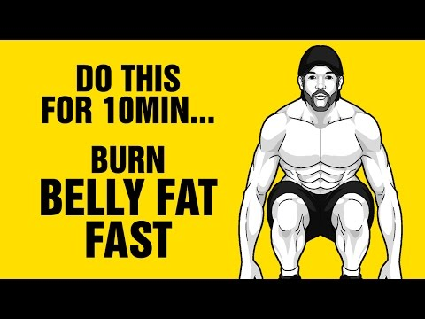 10min Of This Burns Belly Fat Fast : 100% Bodyweight Workout