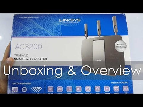Linksys AC3200 High Performance WiFi Router Unboxing & Overview