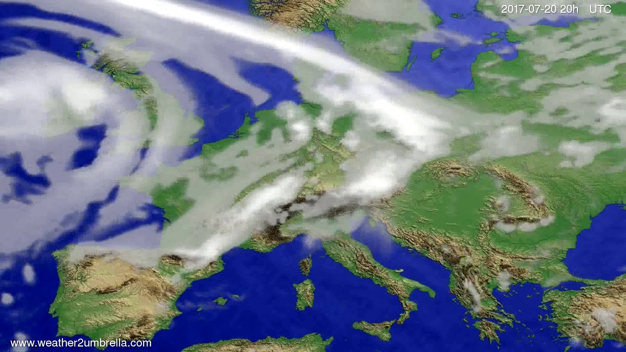 Cloud forecast Europe 2017-07-18