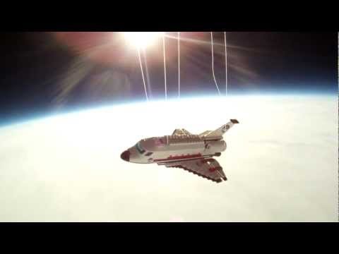 0 LEGO Space Shuttle   A Journey To 115,000 Feet | Video