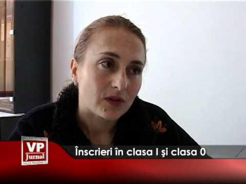 Înscrieri în clasa I şi clasa 0
