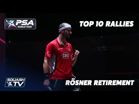 Squash: Rösner Retirement - Top 10 Rallies
