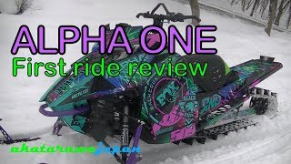6. Arctic Cat Alpha One on-snow review: Gone in 60 seconds