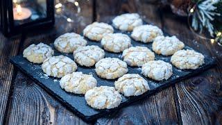 Coconut White Chocolate Crinkle Cookies