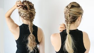 Here's how to do a mermaid infinity braid on straight and curly hair! I saw this one on instagram and I had to recreate this braided ...