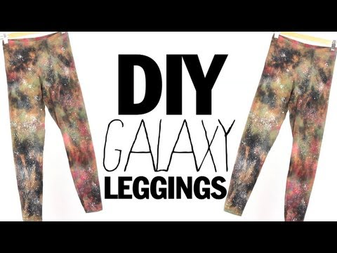 DIY Galaxy Leggings…Boldly go where no leggings have gone before…maybe