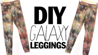 DIY Galaxy Leggings...Boldly go where no leggings have gone before...maybe
