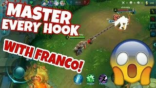 Mobile Legends | Franco HOOK GUIDE | HOW TO PERFECTLY HOOK WITH FRANCO!!!
