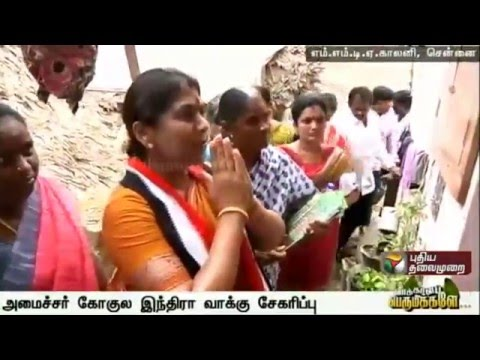 Minister-Gokula-Indra-campaigning-in-Annanagar-constituency