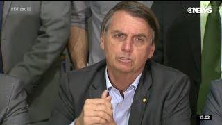 Em coletiva após candidatura, Bolsonaro mostra ser superior aos demais concorrentes à presidência