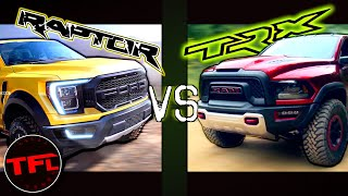 The New 2021 Ford Raptor is Coming! Here's How It Compares To The New 2021 Hellcat Powered Ram TRX! by The Fast Lane Truck
