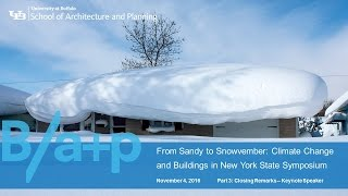 Watch video Part 3 of Symposium: From Sandy to Snowvember