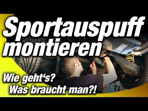 Sportauspuff montieren - wie geht's und was braucht man?! // BASTUCK Edelstahl Endschalldämpfer