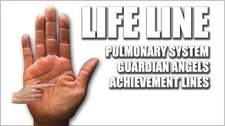 """Please watch: """"CHILDREN & MARRIAGE LINES Male Palm Reading Palmistry #146"""" https://www.youtube.com/watch?v=AOY4nZmF8wA-~-~~-~~~-~~-~-The Life Line reflects your Pulmonary System, your Breathing. Guardian Angel lines will touch on the Life Line. Achievement lines will travel up from the Life Line.GET A HAND/PALM READING: https://goo.gl/NzTwnESUBSCRIBE: http://goo.gl/HkaCq6WEBSITE: http://goo.gl/mE7gmILEARN TO READ PALMS: https://goo.gl/73kxLxLines, configurations, and markings are explained in this new series. Revealed through Hand & Palm Readings & Analysis - Palmistry.LIFE LINE Female Palm Reading PalmistryKat Anders has a Masters Degree in the Health Sciences, a Bachelors Degree in music and has performed over 6000 hand readings for well over 35 years.Video produced by BLACK STONE ENTERTAINMENT. Copyright. All Rights Reserved"""