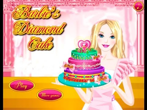 Barbie Online Games Barbie Diamond Cake Game - Cooking Game