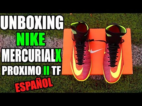 NIKE MERCURIALX PROXIMO II TF - UNBOXING/REVIEW ESPAÑOL * Zapatos, Botas De Fútbol - CR7 SHOES