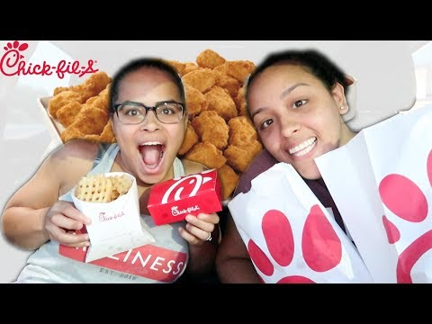 EATING CHICK FIL A FOR THE FIRST TIME MUKBANG!!! (видео)