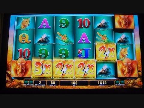 Raging Rhino SUPER MEGA HUGE BIG BIG WIN!!! Buffalo Inspired Slot Machine Bonus Round Free Games 3/3