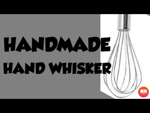 Made Hand whisker at home  handmade blender for cakes   how to make a mini hand mixer at home