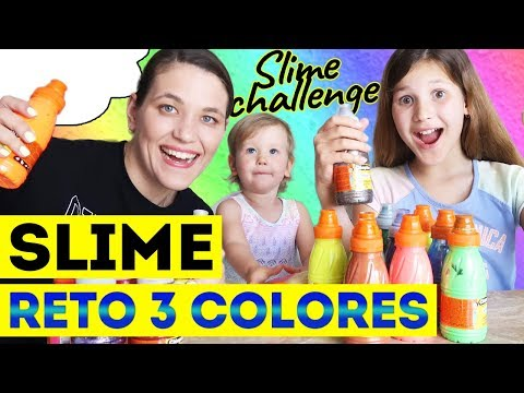 RETO SLIME 3 COLORES  3 COLORS SLIME CHALLENGE  Slime vs Slime  Yippee Family