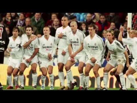 Nihat Kahveci'ye karşı Real Madrid'in efsane futbolcularından oluşturulan baraj.. (видео)